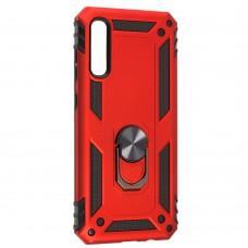 Чехол для Samsung Galaxy A70 (A705) Serge Ring ударопрочный красный