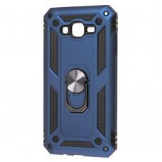 Чехол для Samsung Galaxy J7 (J700) Serge Ring ударопрочный синий