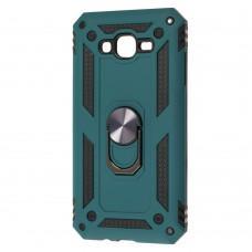 Чехол для Samsung Galaxy J7 (J700) Serge Ring ударопрочный зеленый