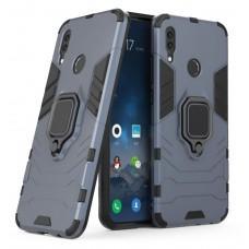 Чехол для Huawei P Smart Z Transformer Ring ударопрочный с кольцом серый