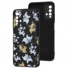 Чехол для Xiaomi Redmi 9T Wave Fancy pug / black
