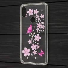 Чехол для Xiaomi Redmi S2 Hojar Diamond красные бабочки