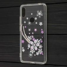 Чехол для Xiaomi Redmi S2 Hojar Diamond фиолетовые цветы