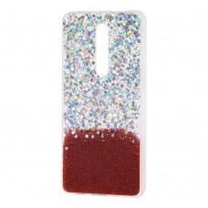 Чехол для Xiaomi Mi 9T / Redmi K20 glitter конфети красный