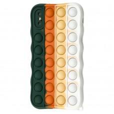 Чехол для iPhone X / Xs Pop it colors антистресс дизайн 9