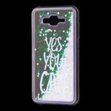 "Чехол для Samsung Galaxy J7 (J700) вода светло-розовый ""yes you can"""