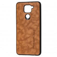 Чехол для Xiaomi Redmi Note 9 X-leael коричневый