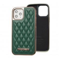 Чехол для iPhone 12 / 12 Pro Puloka leather case зеленый