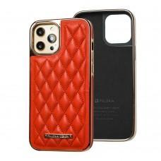 Чехол для iPhone 12 / 12 Pro Puloka leather case красный