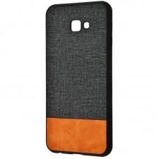 Чехол для Samsung Galaxy J4+ 2018 (J415) Hard Textile черно коричневый