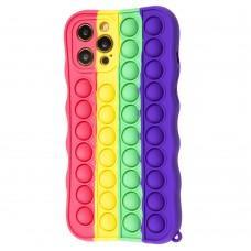 Чехол для iPhone 12 Pro Max Pop it colors антистресс дизайн 4