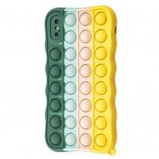 Чехол для iPhone X / Xs Pop it colors антистресс дизайн 7