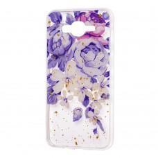 """Чехол для Samsung Galaxy J7 (J700) Flowers Confetti """"пионы"""""""