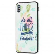 """Чехол для iPhone Xs Max glass """"kindness"""""""