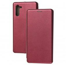 Чехол книжка Premium для Samsung Galaxy Note 10 (N970) бордовый