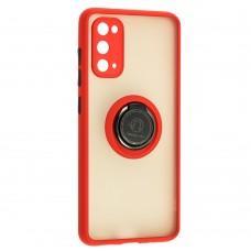 Чехол для Samsung Galaxy S20 (G980) LikGus Edging Ring красный