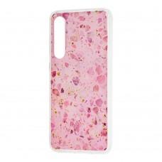 Чехол для Xiaomi Mi 9 SE Wave конфети галька розовый