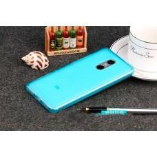 Чехол для Xiaomi Redmi Note 4 силиконовый синий / прозрачный