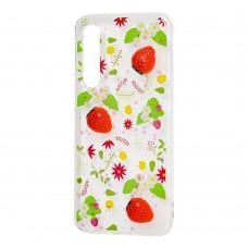 "Чехол для Xiaomi Mi 9 SE силикон 3D ""клубника"""