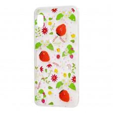 "Чехол для Samsung Galaxy A10 (A105) силикон 3D ""клубника"""