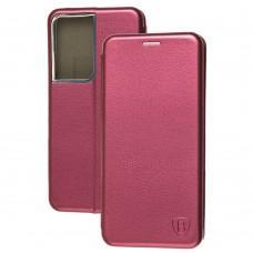 Чехол книжка Premium для Samsung Galaxy S21 Ultra (G998) бордовый
