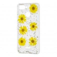 Чехол гербарий для Xiaomi Redmi 6 желтый