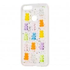 "Чехол для Huawei P Smart 3D confetti ""мишки"""