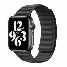 Ремешок для Apple Watch 38/40mm Leather Link черный