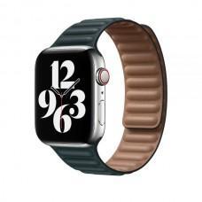 Ремешок для Apple Watch 38/40mm Leather Link green