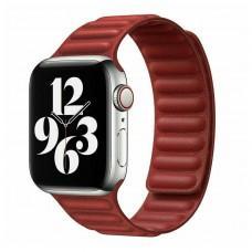 Ремешок для Apple Watch 38/40mm Leather Link красный