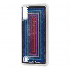 """Чехол для Samsung Galaxy A10 (A105) Блестки вода """"цветные рамки"""""""