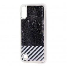 """Чехол для Samsung Galaxy A10 (A105) Блестки вода """"от белого стиля"""""""