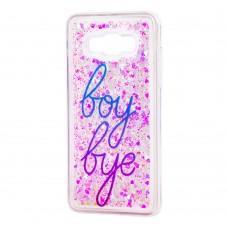 "Чехол для Samsung Galaxy J5 2016 (J510) вода светло-розовый ""boy bye"""