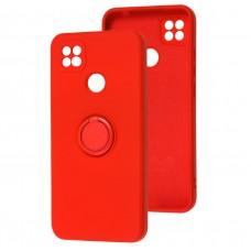 Чехол для Xiaomi Redmi 9C WAVE Color Ring красный