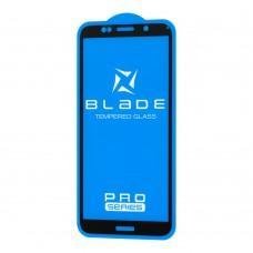Защитное стекло для Huawei Y5P 2020 Full Glue Blade Pro черное