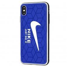 Чехол для iPhone Xs Max Sneakers Nike синий