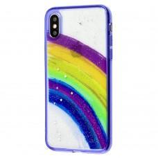 Чехол для iPhone X / Xs Colorful Rainbow фиолетовый