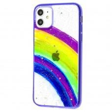 Чехол для iPhone 11 Colorful Rainbow фиолетовый