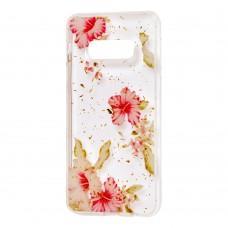 "Чехол для Samsung Galaxy S10e (G970) Flowers Confetti ""китайская роза"""