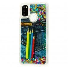 Чехол для Samsung Galaxy M21 / M30s Блестки вода new pencils