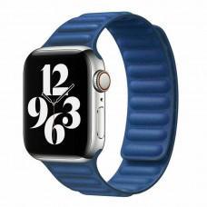 Ремешок для Apple Watch 42/44mm Leather Link baltic blue