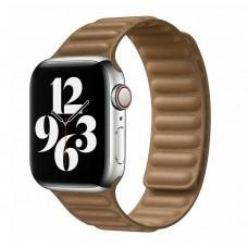 Ремешок для Apple Watch 42/44mm Leather Link saddle brown