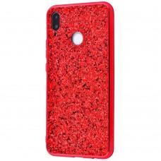 Чехол для Samsung Galaxy M20 (M205) Shining sparkles с блестками красный
