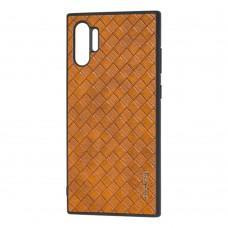 Чехол для Samsung Galaxy Note 10+ (N975) Vorson Braided коричневый