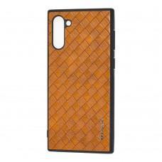 Чехол для Samsung Galaxy Note 10 (N970) Vorson Braided коричневый