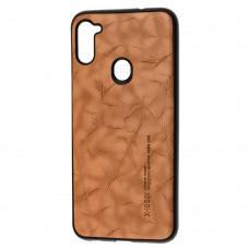 Чехол для Samsung Galaxy A11 / M11 X-leael коричневый