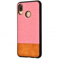 Чехол для Huawei P20 Lite Hard Textile розово коричневый