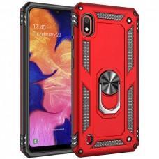 Чехол для Samsung Galaxy A10 (A105) Serge Ring ударопрочный красный