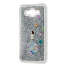 "Чехол для Samsung Galaxy J7 (J700) вода серебристый ""девочка на шаре"""