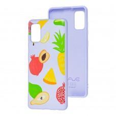 Чехол для Samsung Galaxy A41 (A415) Wave Fancy summer fruits / light purple